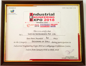 Sapcon wins the 'Best Stall Award' at Industrial Engineering Expo - Cover Image