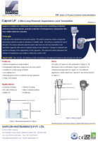 Capacitnace Level Sensor Datasheet