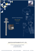 Rate of Flow Measurement Instruction Manual
